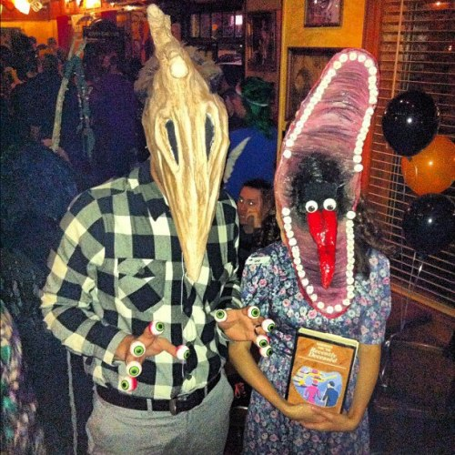 Last night at the Dudley and Bob Costume Contest over at Baker's St. Pub, these guys ended up walking away with $2000 for their handmade costumes. Absolutely incredible!