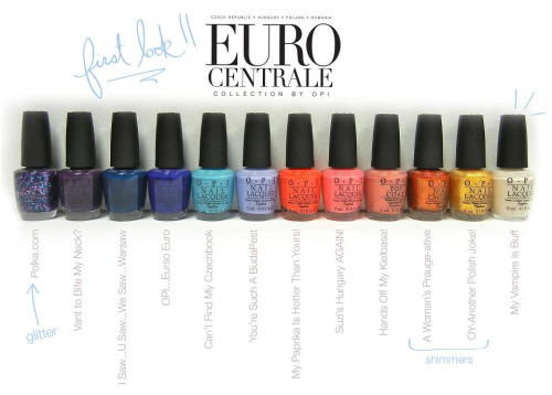 New OPI Euro Centrale Spring 2013 Collection! A sneak peek of each new shade!