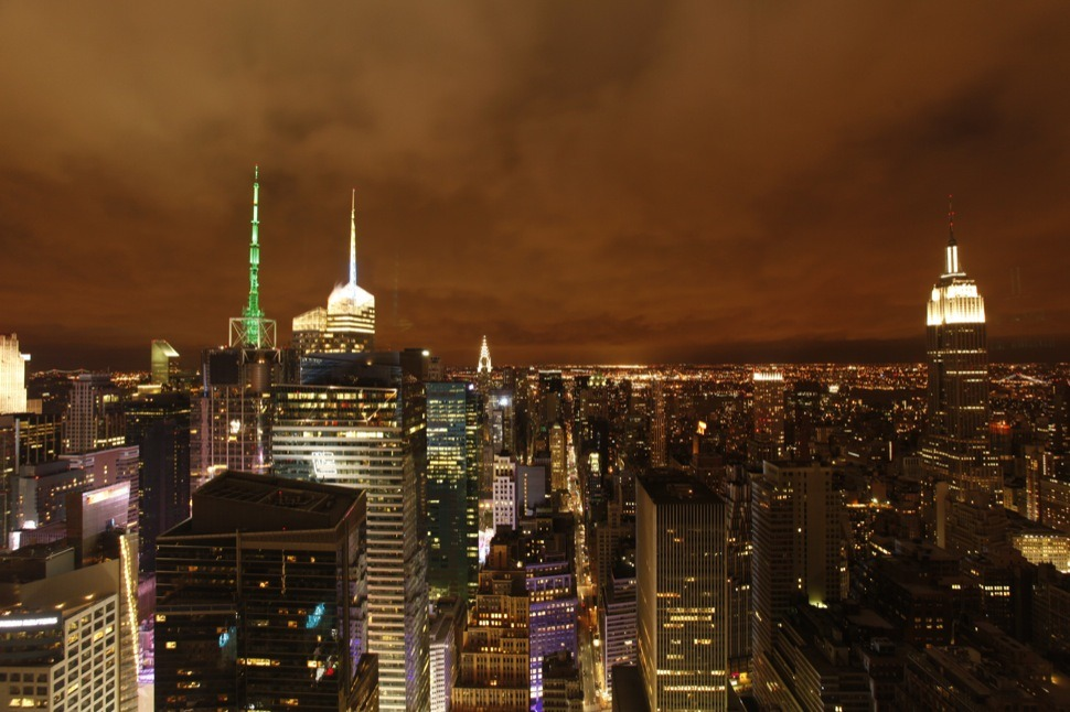 The New York Times put a camera on top of their building, updating every 60 seconds, to watch Sandy's arrival. See it here.
