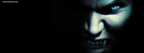 Vampire Face Facebook Cover