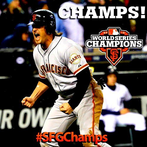 Congrats SF Giants! We love San Francisco!