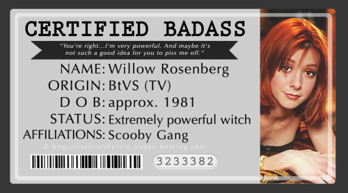 Certified Badass: Willow Rosenberg by ~elfabella