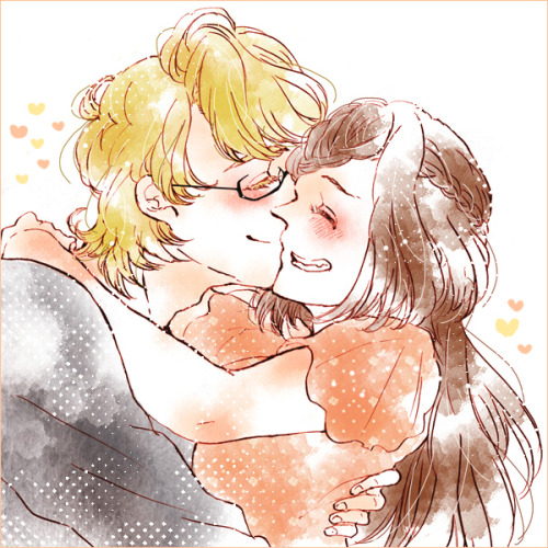 lirillith:  Several-years-later Kaede and Barnaby.  Most of the BunnyMaple tag is loli-tastic and horrifying, as you'd expect, but this one artist likes to draw them once Kaede's actually grown.