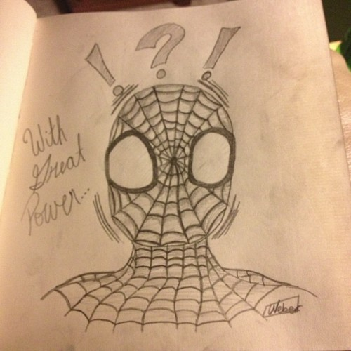 4am Spider-Man headshot for boredom. (at Party Mansion)