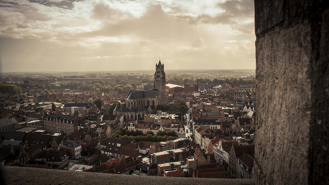 | ♕ |  Bruges - city view from Belfry  | by © Fred Gildelic