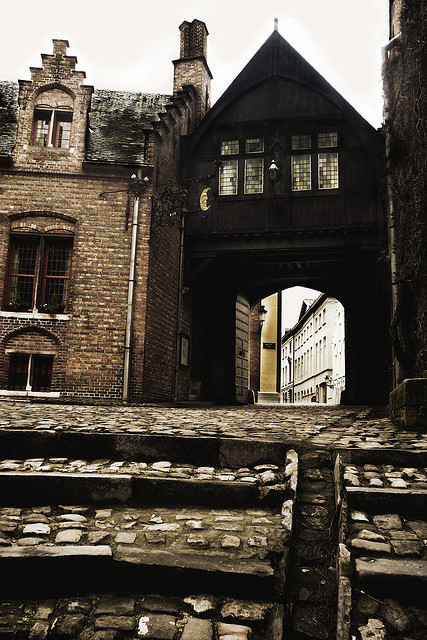 | ♕ |  Bruges - Old Town Gatehouse  | by © Fred Gildelic | via ysvoice