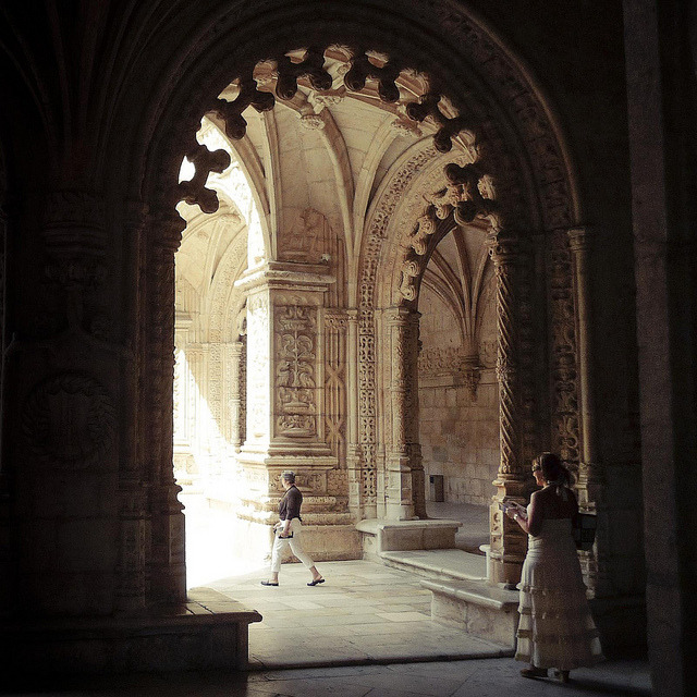 | ♕ |  at the Cloister of Monastery in Lisbon  | by © Fred Gildelic