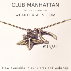 Exclusively for We Are Labels, the Amsterdam based label Club Manhattan produced this lovely limited edition necklace <3 Shop this item here