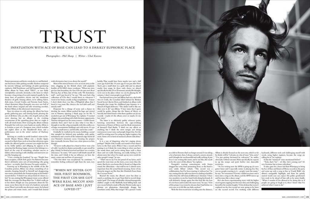 Trust for Loud & Quiet Magazine (by Phil Sharp.)
