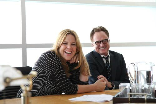 Mary McCormack and Bradley Whitford, enjoying each other's company