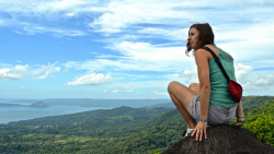 Sanne on Flickr.Via Flickr: Sanne, on top of the world and overlooking the Taal Volcano at Tagaytay Highlands