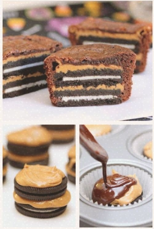 Peanutbutter and Oreo brownies http://bit.ly/PCb0lv