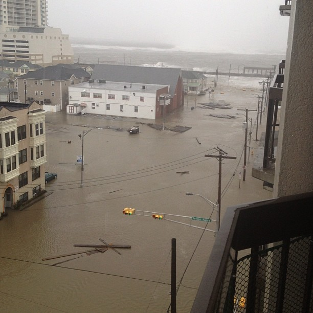 HURRICANE SANDY: Current scene in Atlantic City, New Jersey.