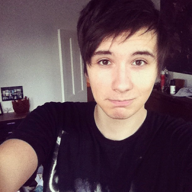 danisnotonfire:  someone said my instagram is 'crap' because I 'don't take enough pictures of my face'. so here is a picture of my face. I HOPE IT'S EVERYTHING YOU WANTED
