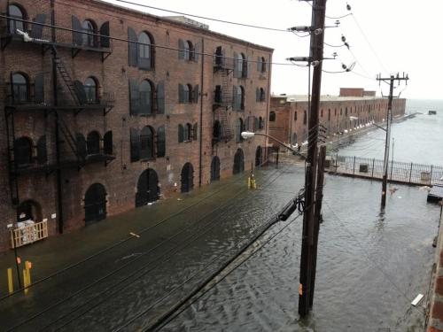 shortformblog:  imwithkanye:  Waters Run High. Red Hook, Brooklyn is flooded. [via]  O_o That is … wow. Stay safe, everyone.