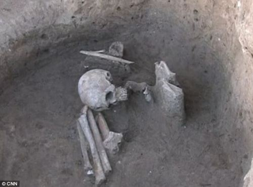 The bizarre burial rituals of Europe's newly discovered 'oldest town': Residents sliced their dead in half and buried them from the pelvis up Residents of what is thought to be Europe's oldest town cut their dead in half and buried them from the pelvis up, according to archaeologists. The newly discovered ancient settlement, thought to date back to 4700BC, is near the Bulgarian town of Provadia, about 25 miles from the country's Black Sea coast. Archaeology professor Vassil Nikolov led the dig which focused on the town itself and its necropolis, where the strange and complex burial rituals were discovered.  Full story here!