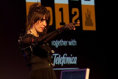 "Imogen Heap explains the MIT tech inside her musical mittens By David Cornish, wired.co.uk Technology""It's the sus­tain! It's never done that before!"" Imo­gen Heap breaks out of a cap­ti­vat­ing per­for­mance of a song writ­ten just three weeks ago for a piece of tech she's had to wait two-and-a-half years to get her hands…  http://flpbd.it/BTTy5"