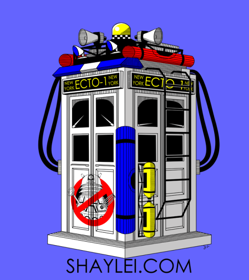 Ecto-1 Tardis on Society6 & in tee form on RedBubble. This one was a doozy but truly worth it. It's a different style from my usual and thus proved to be a ridiculously fun experiment. I might dabble into the line focused/minimalist color palette more often. We'll see.