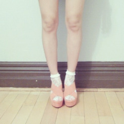 My Dolce Vita Julie Wedge Sandals in melon <3. Uploading old photos to get my tumblr caught up! You can see them in my outfit post here.  =)