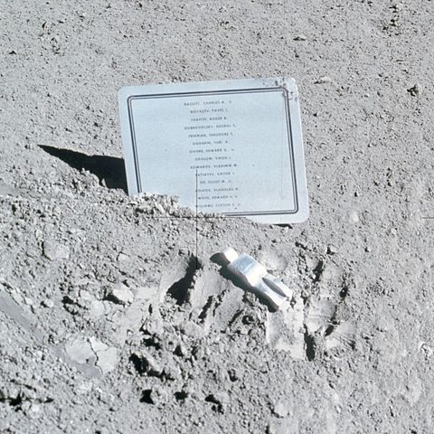 """Fallen Astronaut"" is regarded as the only piece of art on the moon. This aluminum statue created by Belgian artist Paul Van Hoeydonck stands at about 3″ tall and holds the names of eight American astronauts and six Soviet cosmonauts who died during the Space Race   Dan Lewis has the full story on today's Now I Know."