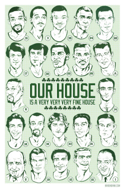 Hand illustrated poster commemorating the 22 extraordinary gentlemen to have their numbers retired by the NBA's most storied franchise. Available here!