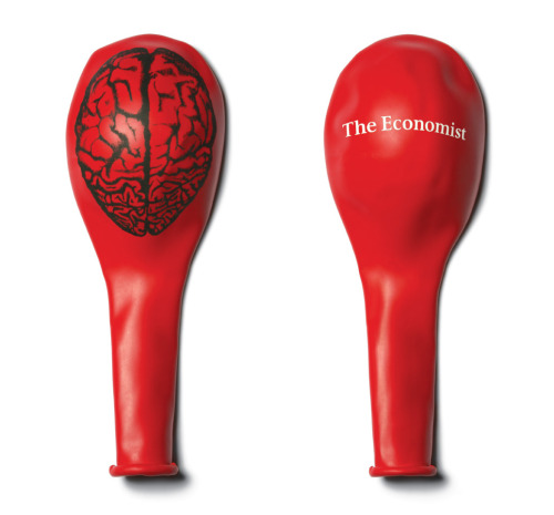 The Economist Brain Balloon Ad by BBDO