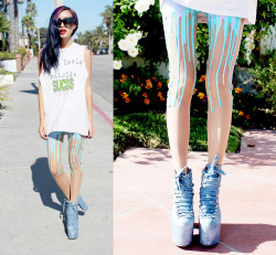 lookbookdotnu:  SLIME TIME (by Dominique N.)