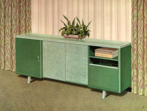 Illustration from Mode-Maker Metal Business Furniture catalog. circa 1960