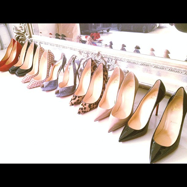 #photoshoot #shoe shoot ….. #christianlouboutin #galore I need a pair of these in my #life …. What's your #favourite pair ? …… #fashion #stylist #charliefi