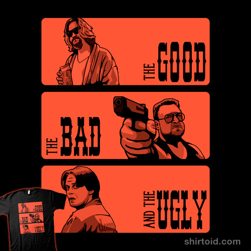 shirtoid:  The Big Lebowski, the bad and the ugly available at Redbubble