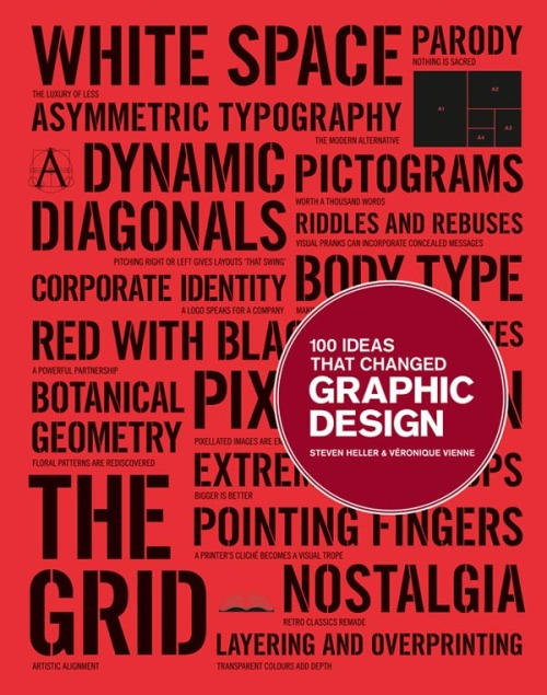 bookstairs:  Design Book Recommendation: 100 Ideas that Changed Graphic Design Author: Steven Heller and Veronique Vienne The book shows how great ideas influenced and characterized graphic design and how those groundbreaking ideas expressed themselves in design objects. 100 Ideas that Changed Graphic Design is available on Amazon.com via: BookStairsFacebook // Twitter // Google+ // Pinterest
