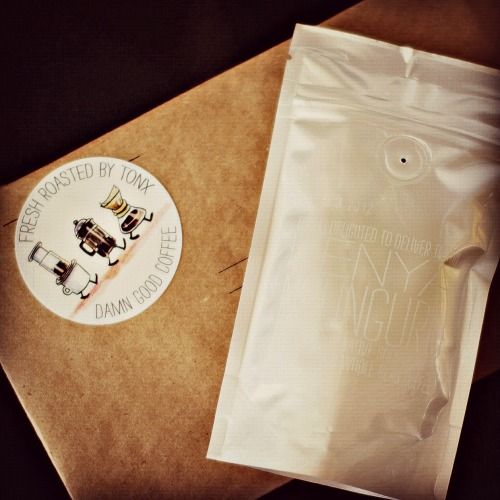 Super pumped about my new Tonx Coffee subscription!  Tonx is a coffee start up that sources, roasts and ships a bag of coffee right to your front door every two weeks. The coffee is sent within 24 hours of being roasted, so it's always fresh, delicious and ready to brew. Thinking this may be the perfect holiday gift for some of my coffee snob friends. FYI - Tonx will send you a free sample bag if you want to try it out before committing to the bi-weekly deliveries. That's how I got hooked!