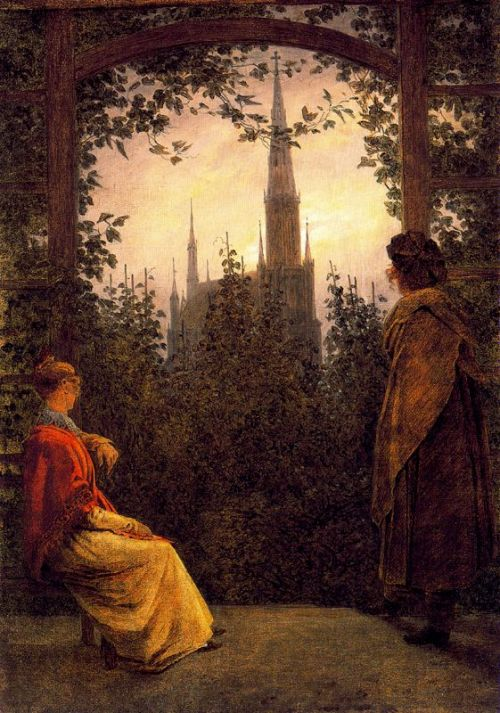 "windypoplarsroom:  Caspar David Friedrich ""The Summerhouse"""