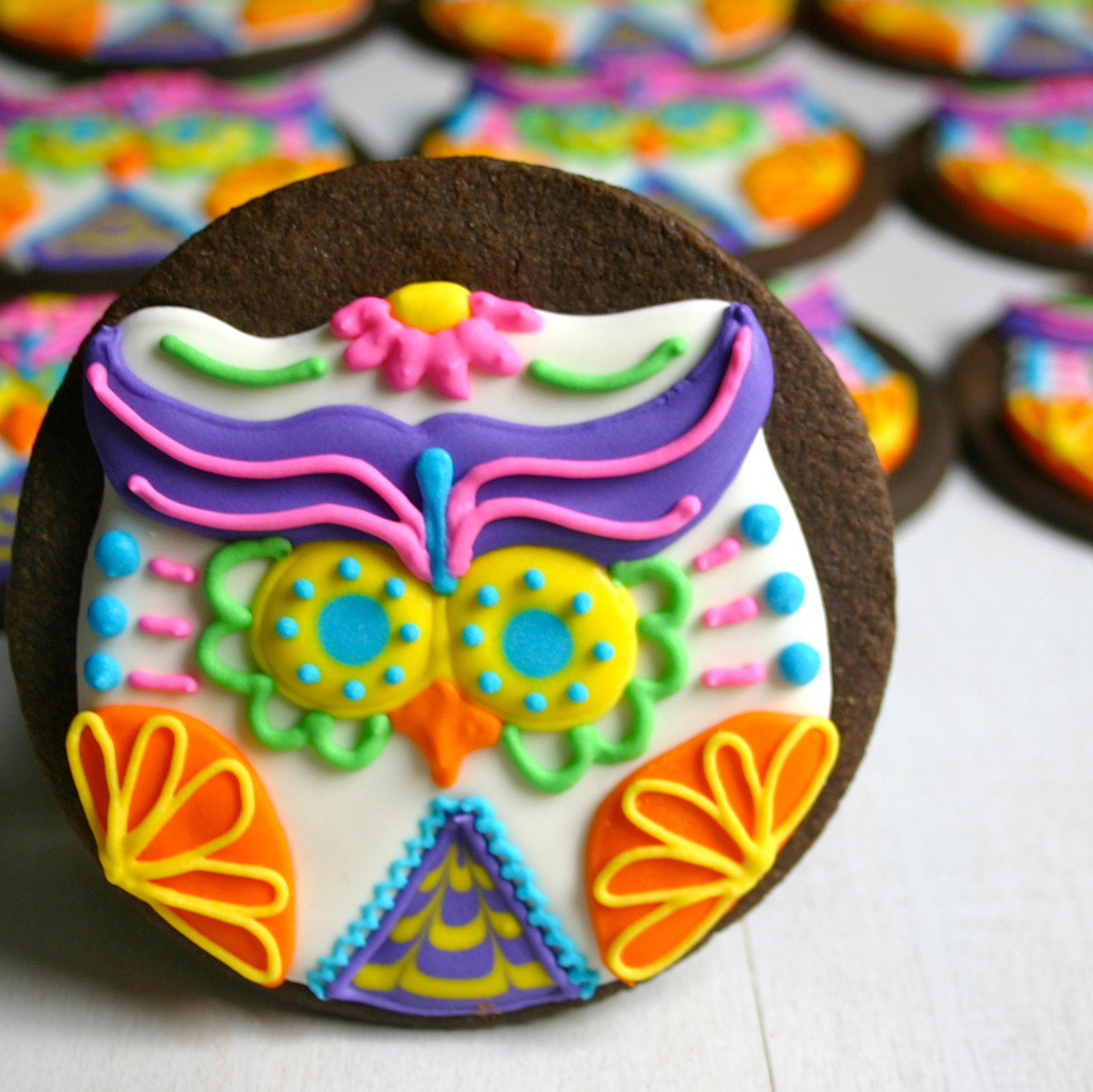 Sugar Skull Owls Recipe & Tutorial.