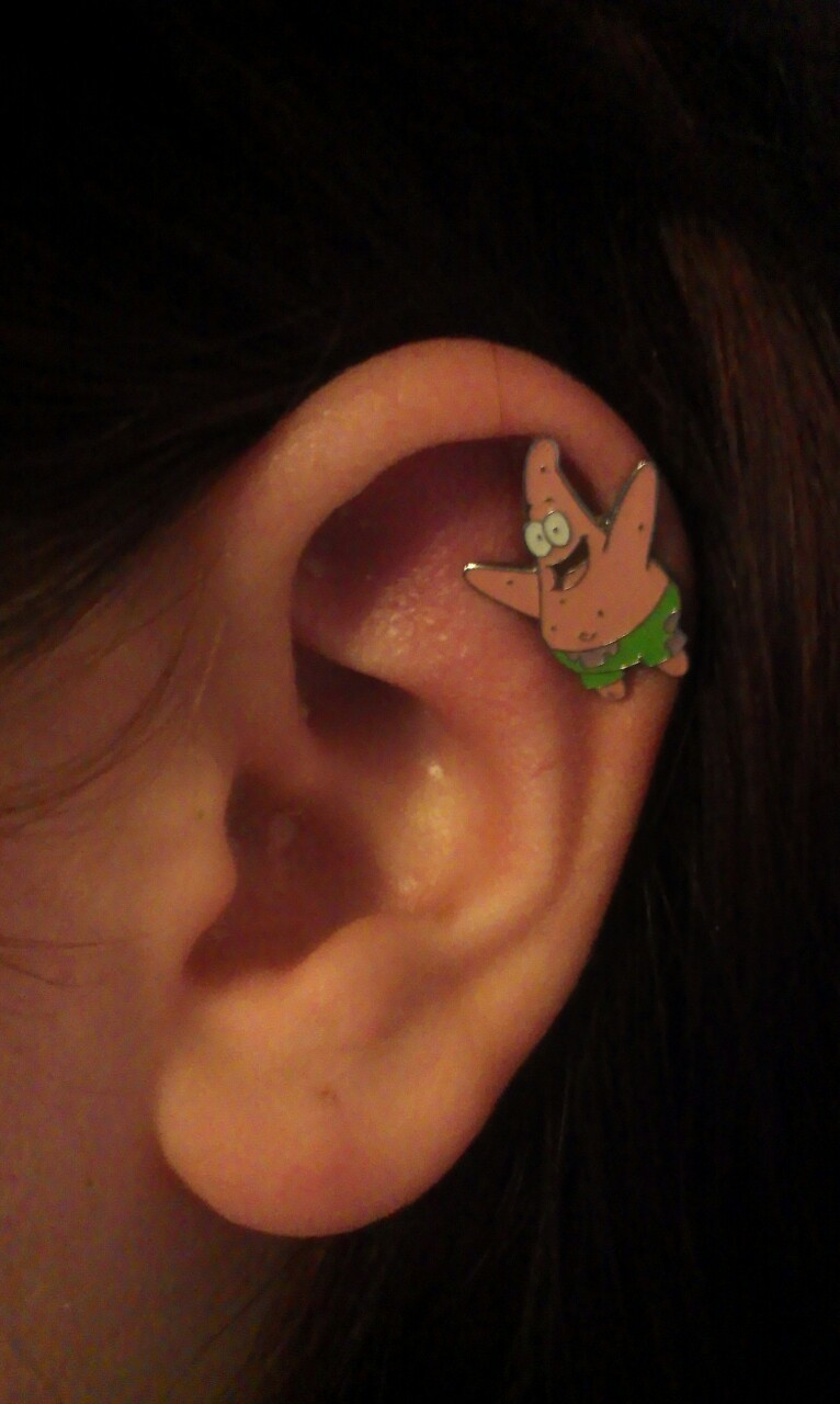 I have Patrick in my ear yay