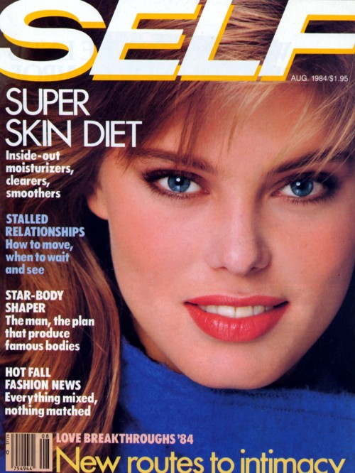 Self US August 1984 Model: Renée Simonsen ph: Eric Boman