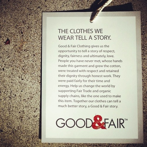 Do good. Be fair. End slavery.