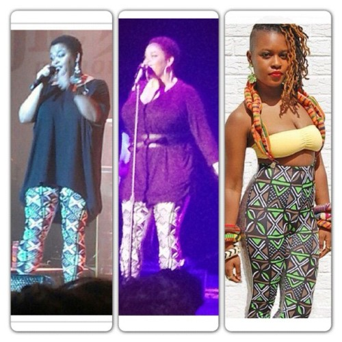 A hurricane don't stop our show!- Last night Jill Scott wore her  Afrikan Hologram Leggings for a second time in as many weeks. Guess it's safe to say she likes them. Lol #nakimuli #jillscott #leggings   #african #wegonegetthiswork