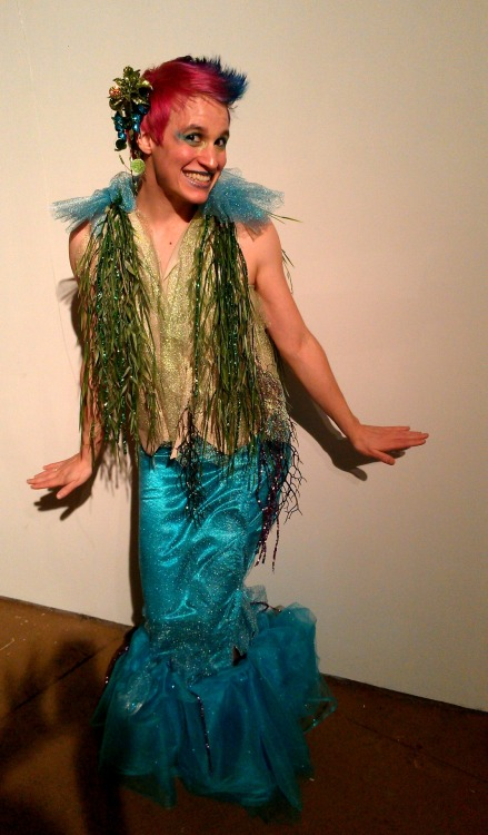 This year for Halloween I am a Femme GQ Mermaid. I made the costume myself! more pics here