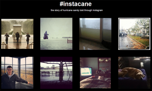 Meet Instacane: Some of it's silly, some of it's more serious — but all of it is related to Hurricane Sandy. Here's how Instagram users are weathering the storm.