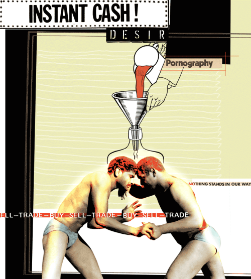 desires illustrated:silent carcasses of desire' wanking in silence, exchanging passwords:the world, excluded, remains silentabout those who have excluded themselves,silent carcasses of predators. but from the world's trasha new world is born,new laws are born,where there is no lawa new honor is bornwhere honor is dishonor …a ferocious nobility and power is bornin the piles of hovels in the open spaces '                pier paolo pasolini  _refs: free translated fragment of 'sesso, consolazione della miseria' in 'la religione del mio tempo' (1961) by pier paolo pasolini (1922-75)+ 'wrestlers sparring' (1980) by william gale gedney (1932-89)
