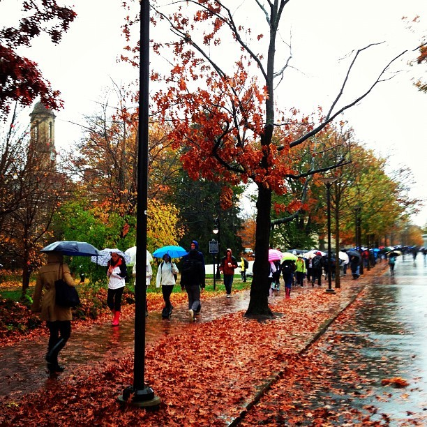 #PennState Between Classes As #Sandy Descends (at The Pennsylvania State University)