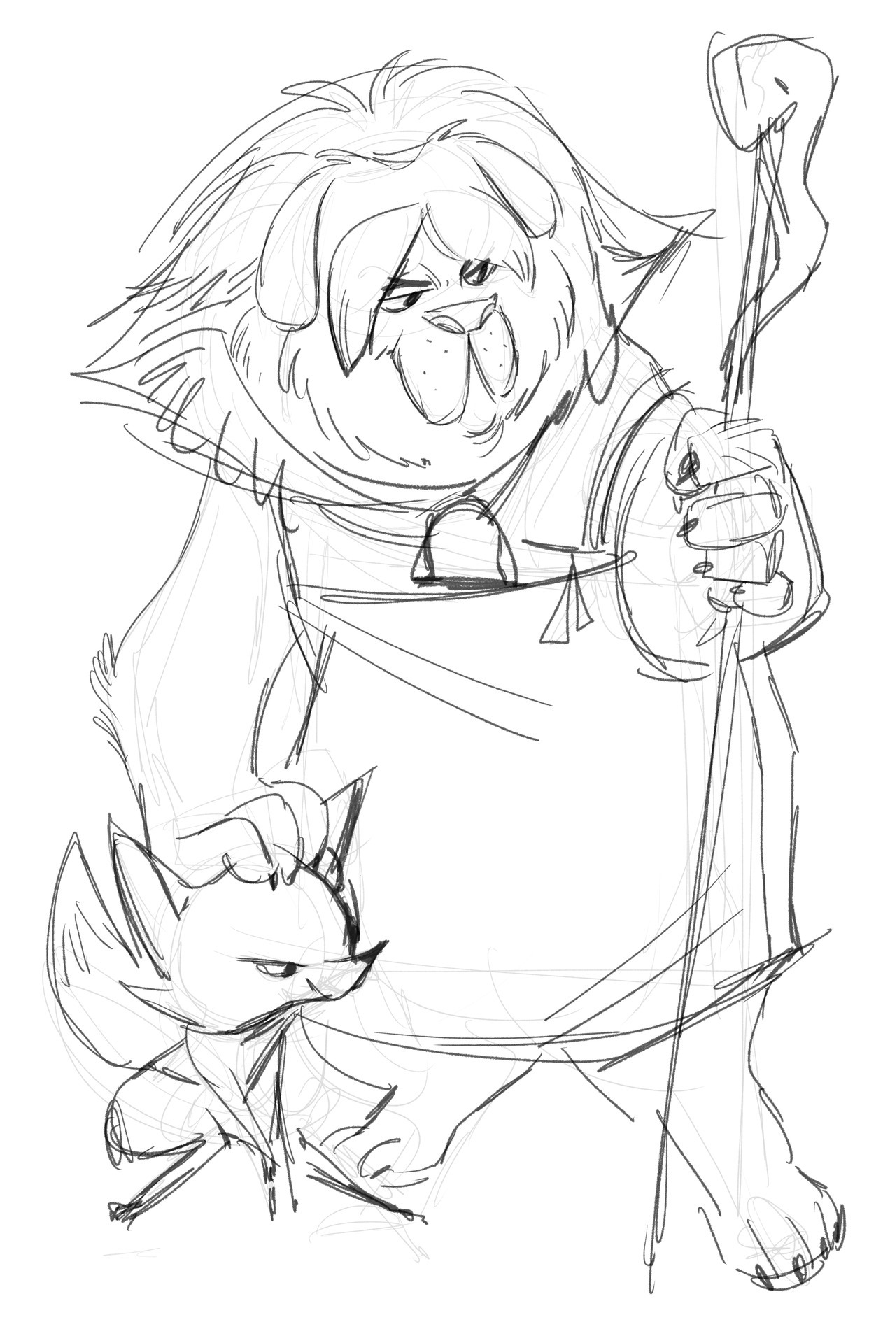 The Mastiff and Arctic Fox, two characters who are the allegories for the Wolf and the Cat in the original Pinocchio story!