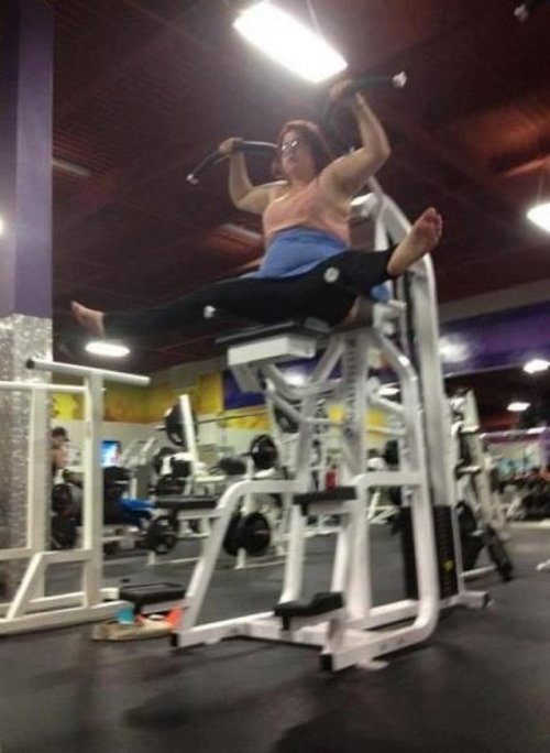 Woman May Not Be Able to Get Off Exercise Machine I've made a huge mistake.