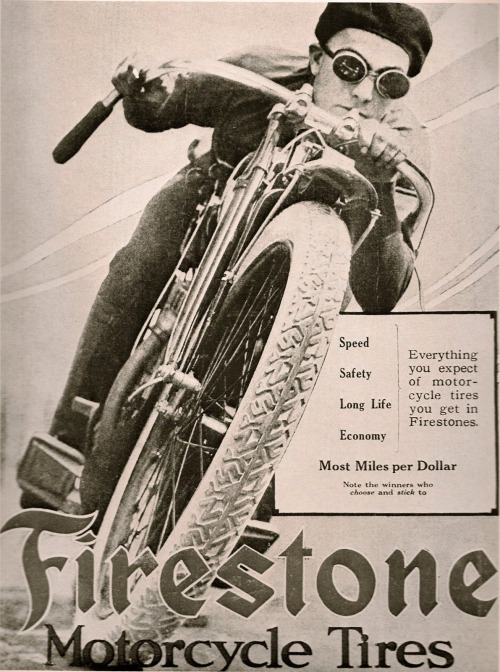 Motorcycle Advertisement of the Day Firestone Tires