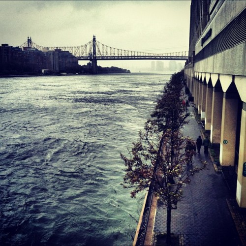 The East River does not look happy about Hurricane Sandy… (via @thedailyphotos)
