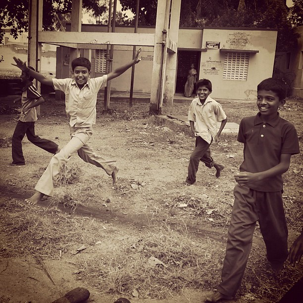 Jump (Leica DL5 w/IG EB) #100cameras #004India #NGO #RussFoundation #LeicaCameras #portraits #TamilNadu #Madurai #India #humanitarian #travel #boys (at Madurai, India)