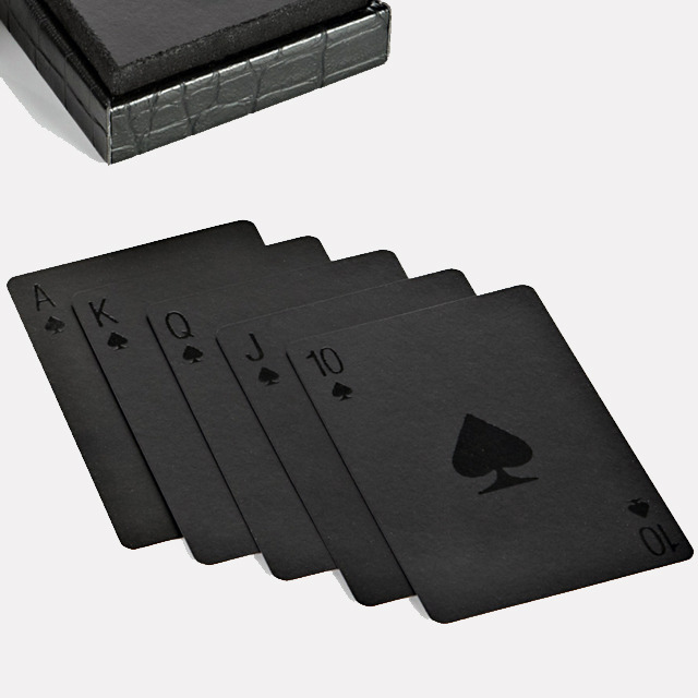 Black playing cards by Alexander Wang. So stylish!