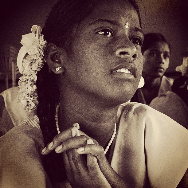 Student (Leica DL5 w/IG EB) #100cameras #004India #ngo #humanitarian #hope #LeicaCameras #portraits #tamilnadu #Madurai #India #education #classroom #girls (at Nallamani High School, India)