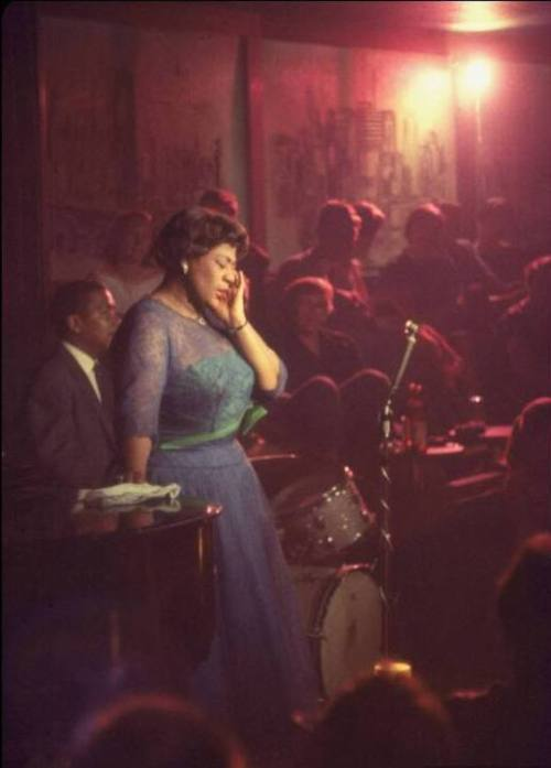 calumet412:  Ella Fitzgerald performing at Mr. Kelly's (now Gibson's on Rush), 1958, Chicago.